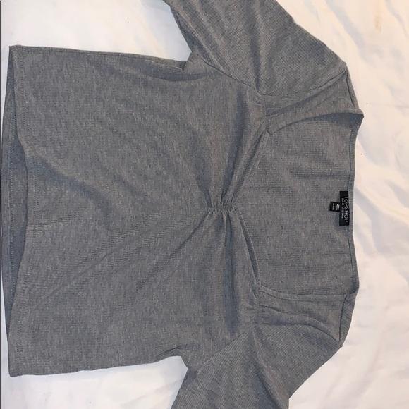 Topshop Tops - Topshop Heather Grey Shirt